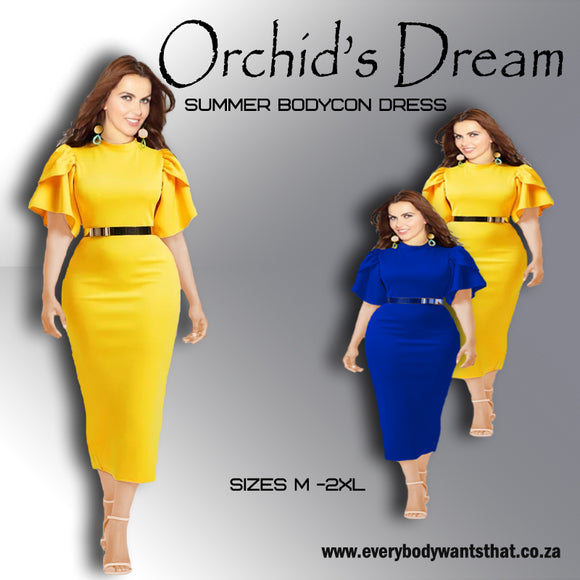 Orchid's Dream Summer Bodycon Dress (M-2XL)