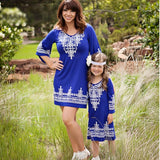 Mommy and me clothes Geometric Three Quarter Mini Dress Mother daughter dresses matching outfits mother and daughter clothes