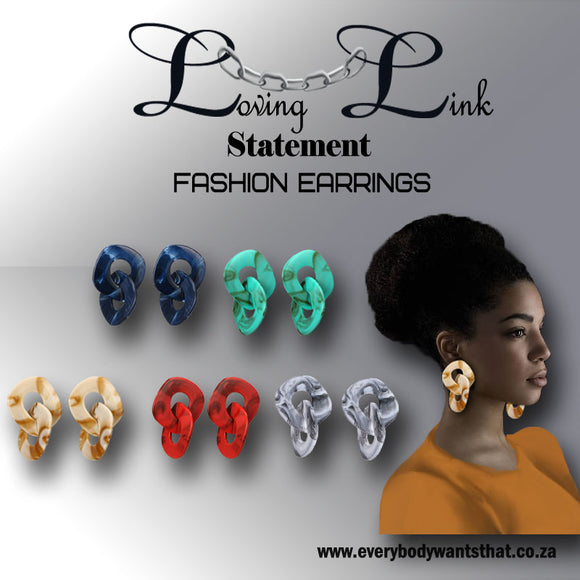 Loving Link Statement Fashion Earrings