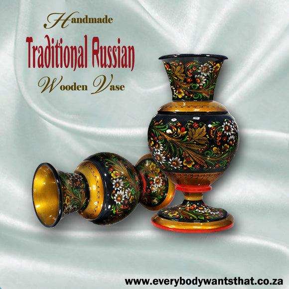 Handmade Traditional Russian Wooden Vase