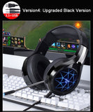 Stereo Gaming Headphones With Microphone Upgraded Black
