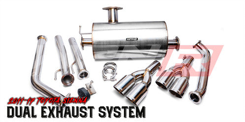 2011+ Sienna WPN-R Dual Exhaust System