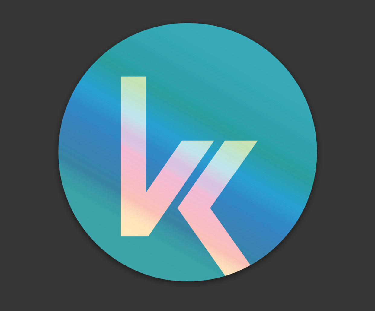 Holographic VK Round Decal