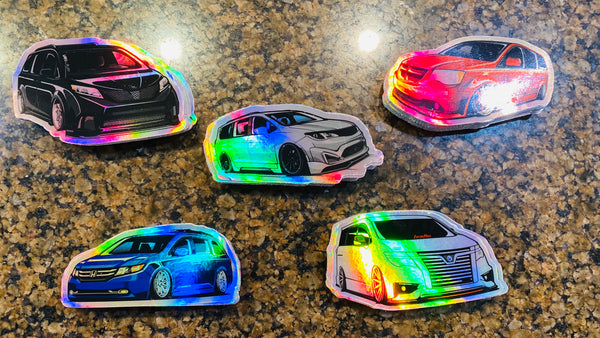 Holographic Van Decals V1 collection