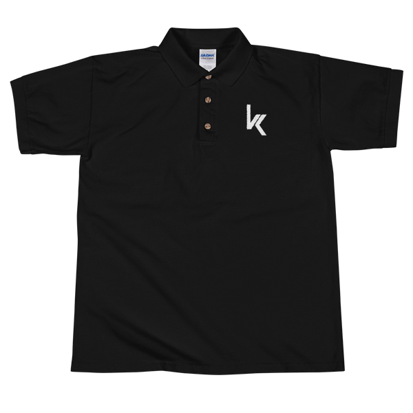 VK Logo Embroidered Polo Shirt