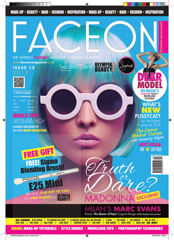 FaceOn September 2013 Cover Featuring Artikal Millinery