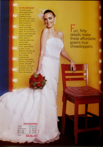 Bridal Guide Magazine May/June 2008 Featuring Artikal Millinery