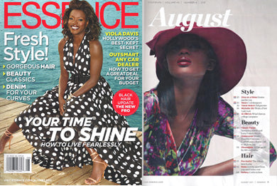 Essence August 2011featuring Artikal Millinery