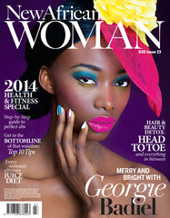 New African Woman Magazine Dec/Jan 2014 Featuring Artikal Millinery Pink Fascinator