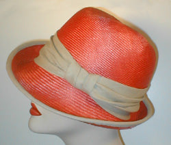 Parasisol Snap Brim Fedora with Linen Band and Accent