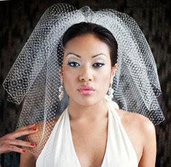 Double Layer High Fashion Birdcage Veil