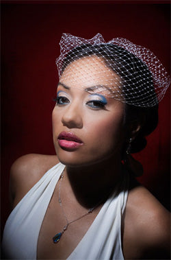 Basic Side Gather Birdcage Veil