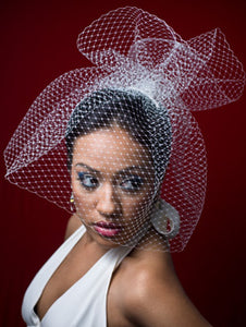 Full High Fashion Birdcage Veil