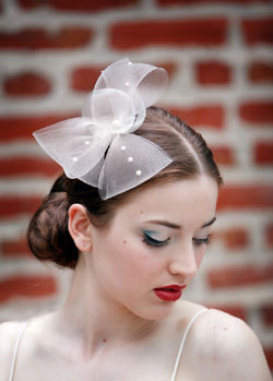 Horsehair Fascinator with Flat Back Pearls