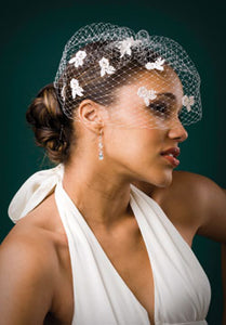 Fly Away Veil with Venice Lace and Pearls
