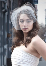 Load image into Gallery viewer, Double Birdcage Veil .Contrasting Layers of Illusion and Birdcage Veiling