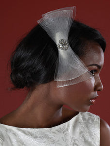 Horse Hair/ Crin Fascinator with Vintage Inspired Brooch