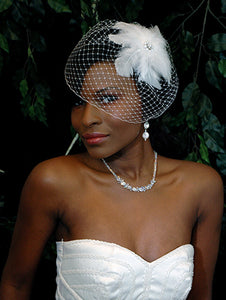 Basic fly away birdcage with Feather Fascinator