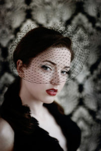 Basic birdcage veil in black