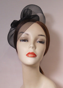 Horse Hair Fascinator with Vintage Inspired Brooch