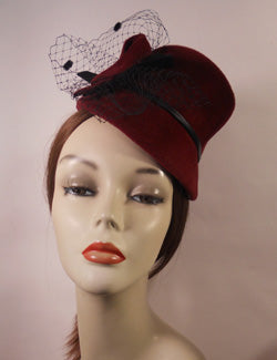 Vintage Inspired Mini Fur felt Hat
