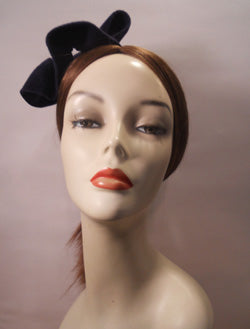 Velour Freeform Fascinator with Rhinestone Brooch