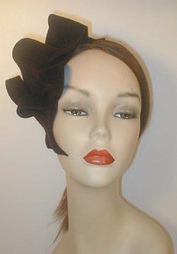 Velour Freeform Sculptured Fascinator