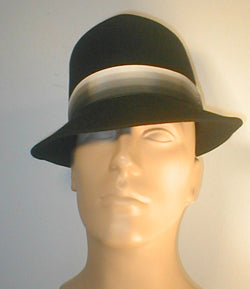 Fur Felt Tear Drop Fedora with Gradual Band