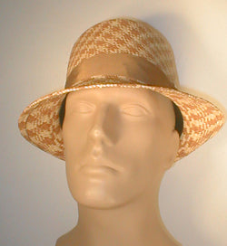 Panama Teardrop Fedora with Grosgrain Band and Silver Accented Buckle