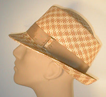 Load image into Gallery viewer, Panama Teardrop Fedora with Grosgrain Band and Silver Accented Buckle