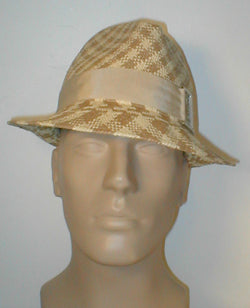 Panama Fedora with Grosgrain Band and Buckle