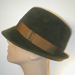 Velour Fedora with Grosgrain Band and Accent