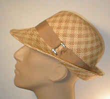 Load image into Gallery viewer, Center Crease Fedora with Grosgrain Band and Buckle
