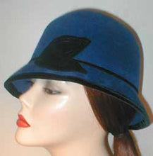 Load image into Gallery viewer, Velour Center Crease Fedora with Velvet and Self Accents.