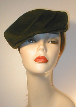 Velour Draped Cap