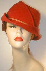 Velour Freeform Draped Fedora.