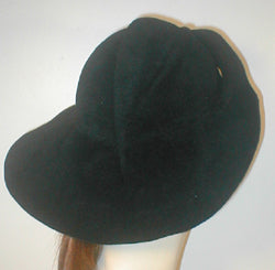 Velour Large Brim Draped Cloche.