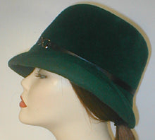 Load image into Gallery viewer, Velour Center Crease Cloche with Flip Brim.