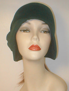 Velour Freeform Cloche with Drapes and Deco Accent.