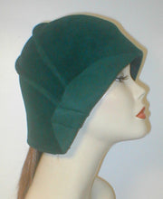 Load image into Gallery viewer, Velour Freeform Cloche with Drapes and Deco Accent.