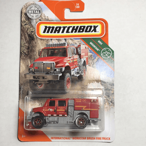 Matchbox International Workstar Brush Fire Truck - Gonzo's Garage