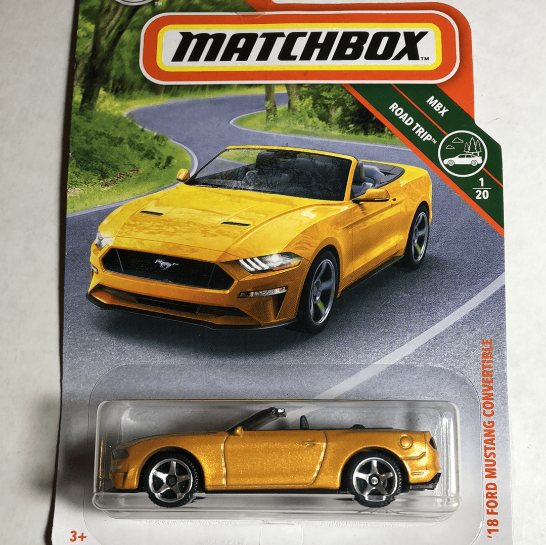 Matchbox 18 Ford Mustang Convertible - Gonzo's Garage