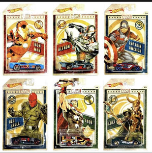Hot Wheels Marvel Characters set of 6 - Gonzo's Garage