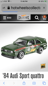 Hot wheels 84 Audi sport Quattro - Gonzo's Garage