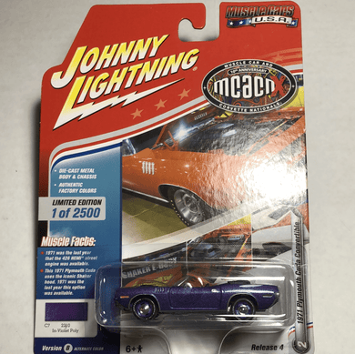 Johnny Lightning 1971 Plymouth Cuda Convertible - Gonzo's Garage