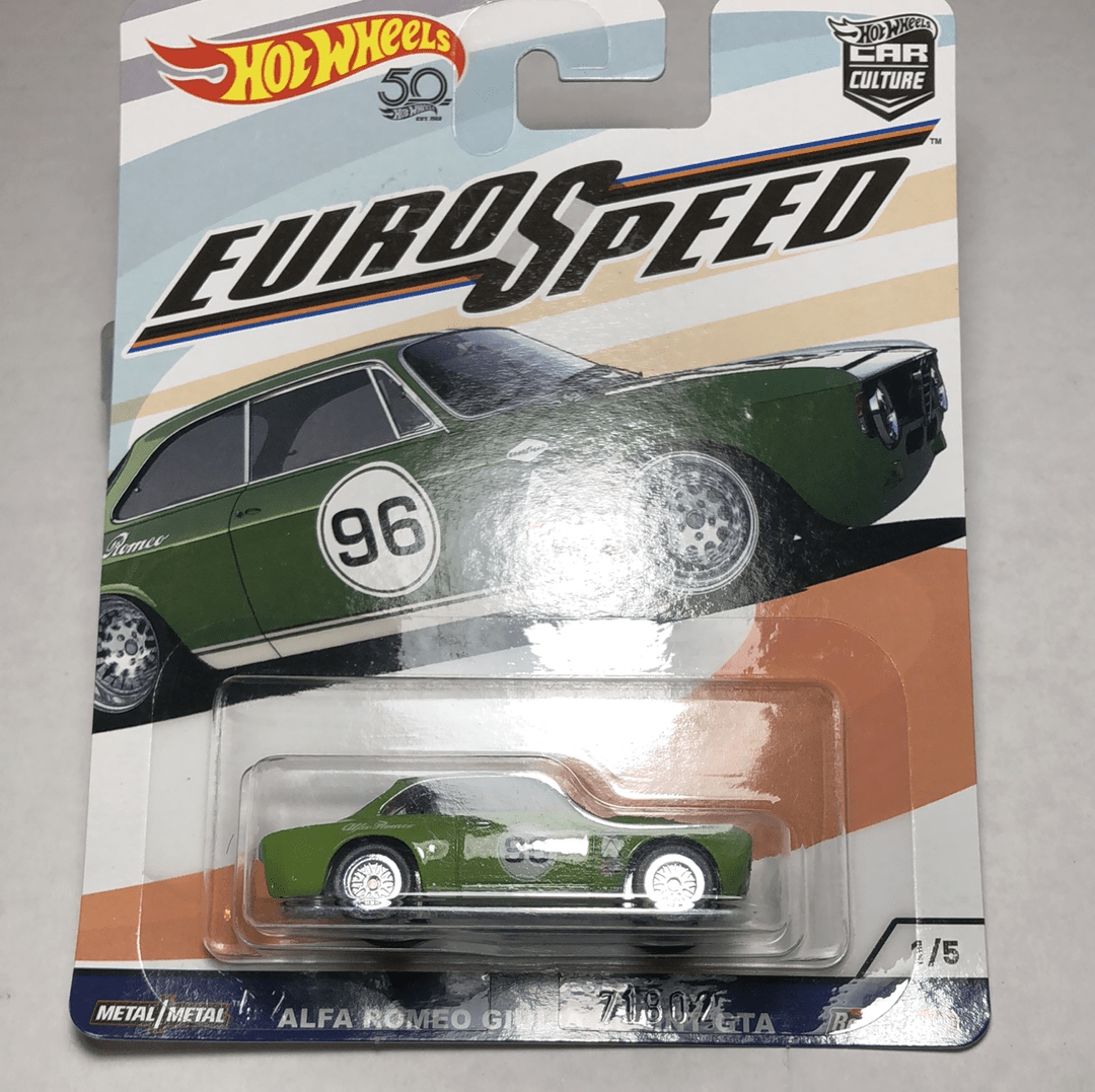 Hot Wheels Premium Euro Speed Alfa Romeo Giulia gta - Gonzo's Garage