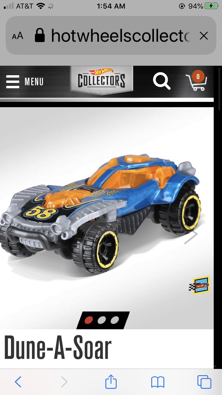Hot Wheels Dune A Soar - Gonzo's Garage