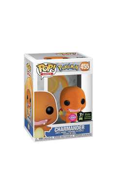 Funko pop Pokémon charmander (flocked) [ECCC] exclusive - Gonzo's Garage