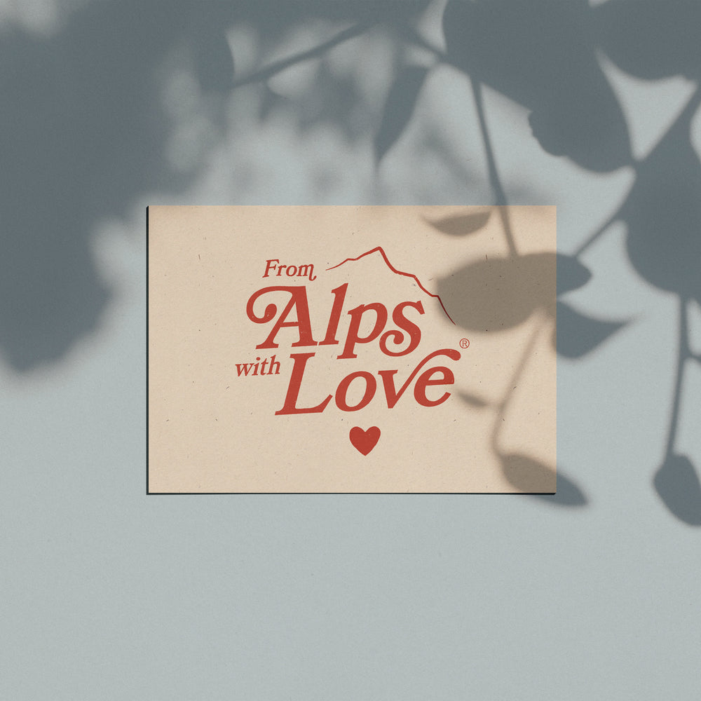 "Carte postale ""From Alps With Love"""