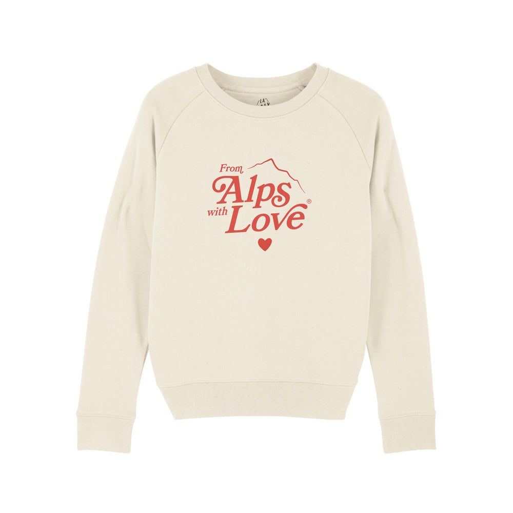"Sweat imprimé Femme ""From Alps with Love"""